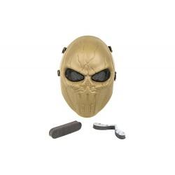 Máscara Punisher de rosto inteiro (cor marrom)