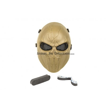 Full Face Punisher Mask (Tan Color)