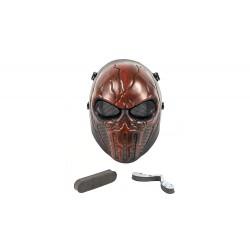 Máscara Punisher de rosto inteiro (cor vermelha)