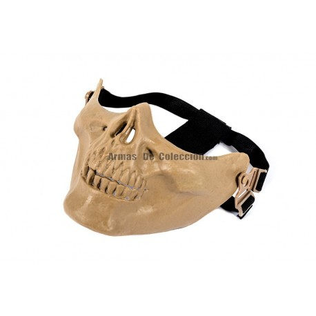 Half Face Skull Mask MKI (Tan Color)
