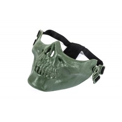 Half Face Skull Mask MKI (Green Color)