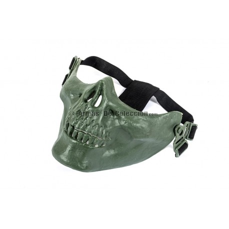 Half Face Skull Mask MKI (Green Color)