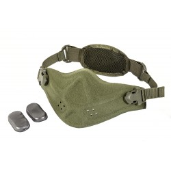 Mask Half Face Neoprene/Cordura Mask (Green Color)