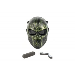 Máscara Full Face Punisher Mask (Green Color)