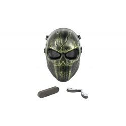 Máscara Punisher de rosto inteiro (cor verde)