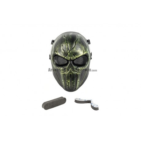 Full Face Punisher Mask (Green Color)