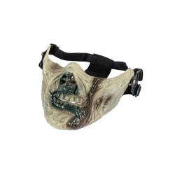 Máscara Zombie Half Face (cor verde)