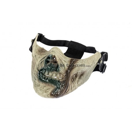 Half Face Zombie Mask (Green Color)
