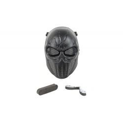 Máscara de Punisher de rosto inteiro (cor preta)