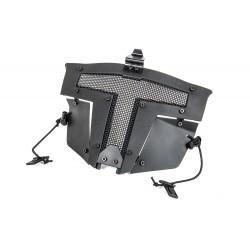 Máscara Spartan Mask Fast Helmet Mount - CON ENGANCHE CASCO - Black