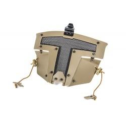 Spartan Mask Fast Helmet Mount Mask - with helmet hitch - Tan