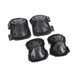 Black River Elbow & Knee Pad Set (Black Color)
