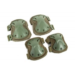 Rodilleras y coderas Pad Set (Green OD Verde Color)