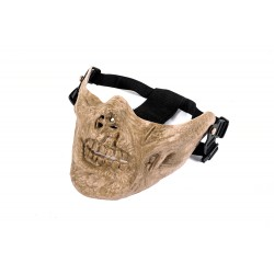 Half Face Zombie Mask (Tan Color)