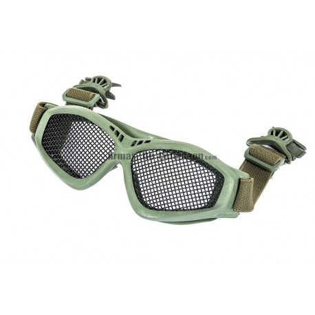Black River Steel Mesh Goggles with Fast Helmet Clip OD Green