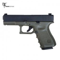 Saigo 23 ( Type Glock 23 ) Pistol 6MM Gas Blowback OD/Black