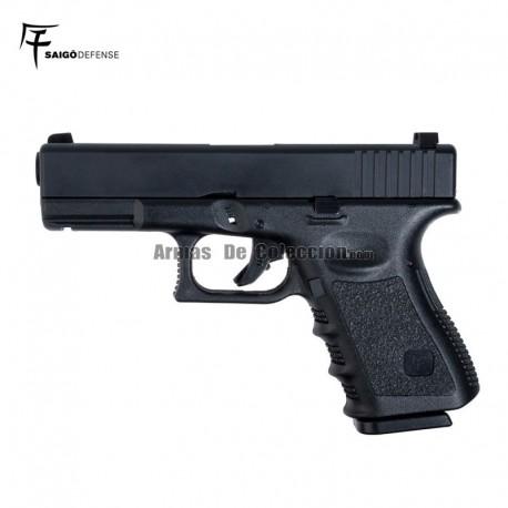 Saigo 23 ( Tipo Glock 23 ) Pistola 6MM Gas Blowback Negra