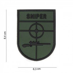3D PVC Patch Sniper Green / Black