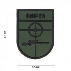 PARCHE PVC 3D SNIPER VERDE/NEGRO