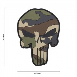 Parche PVC 3D Punisher Camo