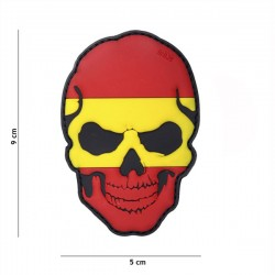 PVC 3D Skull Patch Spain