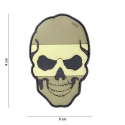 3D PVC Patch Skull Spain Tan