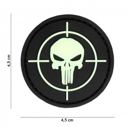 3D PVC Patch Punisher Diana Round Small Black