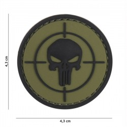 3D PVC Patch Diana Punisher Verde