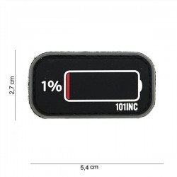 PVC Patch 3D Low Power Battery Black