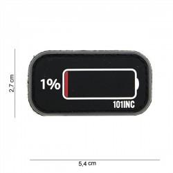 PVC Patch 3D Low Power Battery Black