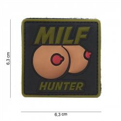3d milf caçador mamas pvc patch preto / verde