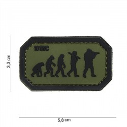 PVC Patch 3D Evolution 101 INC Green