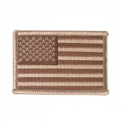 Embroidered Patch American Flag Desert