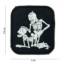3D PVC Patch 2 Skeletons Black / White