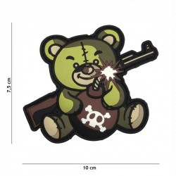 3D Terror Teddy PVC Green Patch