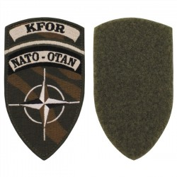 Patch bordado KFOR NATO-NATO Velcro Camo