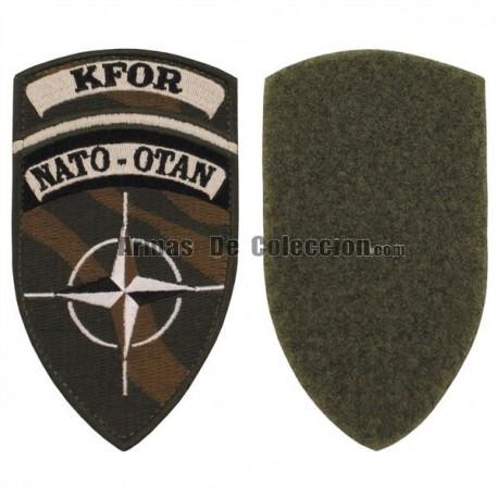 PARCHE BORDADO KFOR NATO-OTAN VELCRO CAMO