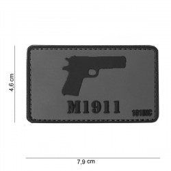 3D PVC Patch M1911 Gray - Black