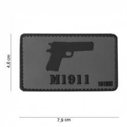 Patch de PVC 3D M1911 Cinza - Preto