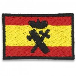 Bandeira Espanhola Patch Velcro Bordado Ombro Guarda Civil