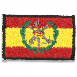 Patch de bandeira espanhola de velcro ombro bordado legião