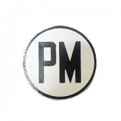 PM Round Patch White / Black