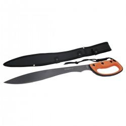 Machete cortacañas Third S2020B hoja de acero inox de 44 cm con mango de ABS y goma fundida, con funda de nylon.