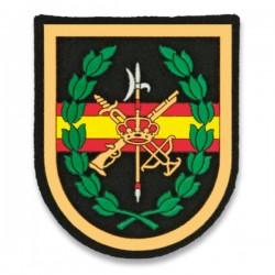 Patch de Legião Pequena Bandeira Espanha Centro Preto
