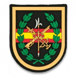 Small Legion Patch Spain Flag Black Center