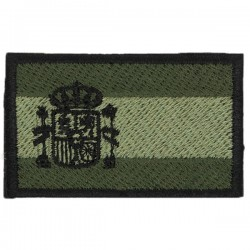 Spanish Flag Patch Velcro Embroidered Shoulder Desert