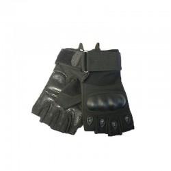 Guantes de proteccion Airsoft Refuerzos Nudillos Dedos cortados KEVLAR Negro