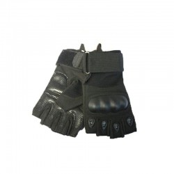 Protective gloves Airsoft Reinforcements Knuckles Fingers cut KEVLAR Black