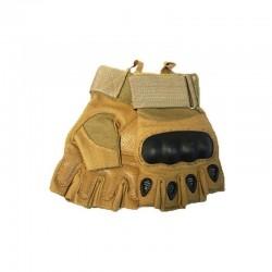 Luvas de proteção Reforços Airsoft Knuckles Dedos cortados KEVLAR Tan