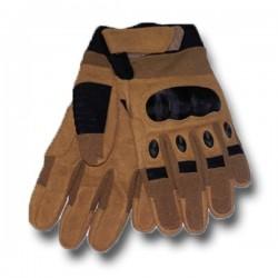 Luvas de proteção Reforços Airsoft Knuckles KEVLAR Tan